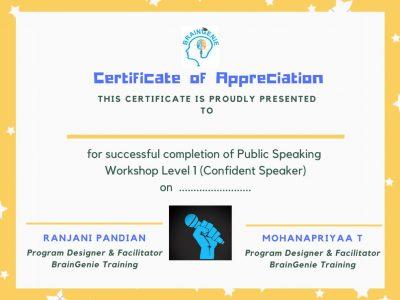 Level 1 certificate